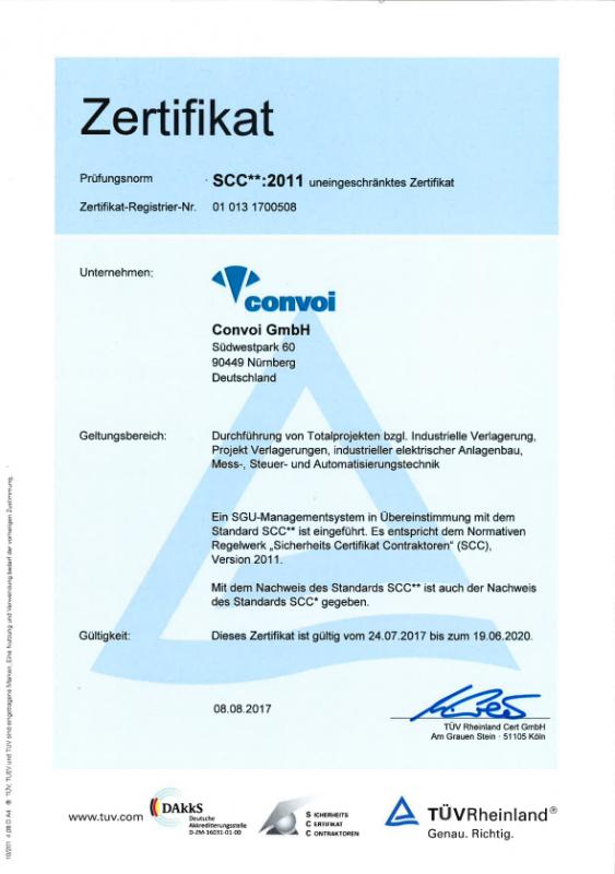 Convoi GmbH SCC gültig bis 19-06-2020